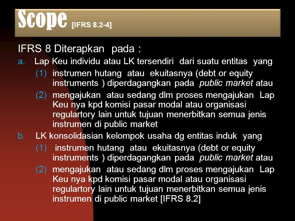Scope [IFRS 8.2-4] IFRS 8 Diterapkan pada :